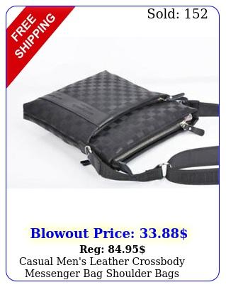 casual men's leather crossbody messenger bag shoulder bags satchel purs