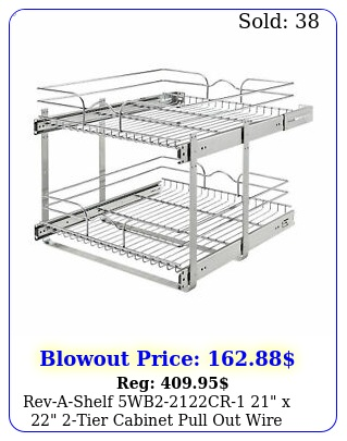 revashelf wbcr x tier cabinet pull out wire baskets chrom