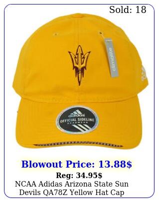 ncaa adidas arizona state sun devils qaz yellow hat cap adjustable relaxe