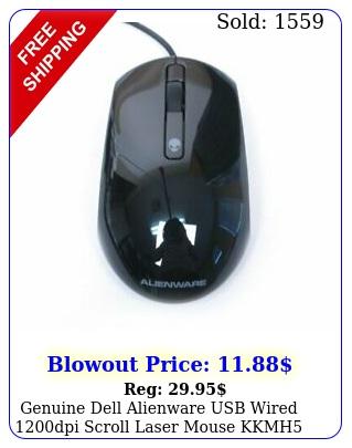 genuine dell alienware usb wired dpi scroll laser mouse kkmh modmu