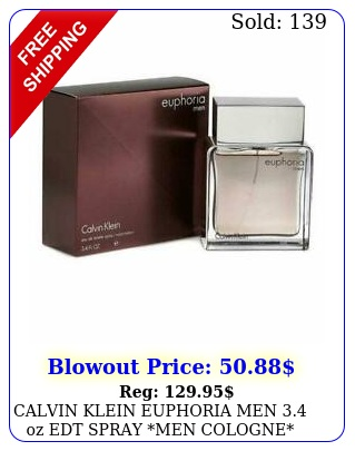 calvin klein euphoria men oz edt spray men cologne sealed perfum