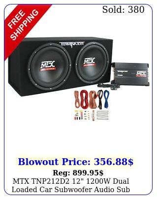 mtx tnpd w dual loaded car subwoofer audio sub amplifier amp ki