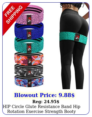 hip circle glute resistance band hip rotation exercise strength booty bands loo