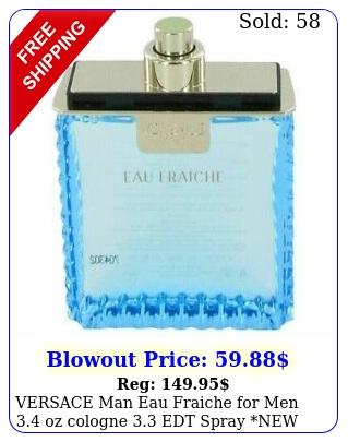 versace man eau fraiche men oz cologne edt spray new testr perfum