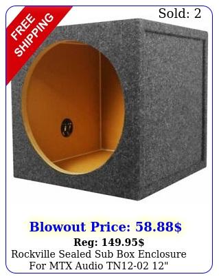 rockville sealed sub enclosure mtx audio tn subwoofe