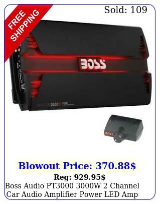 boss audio pt w channel car audio amplifier power led amp remot