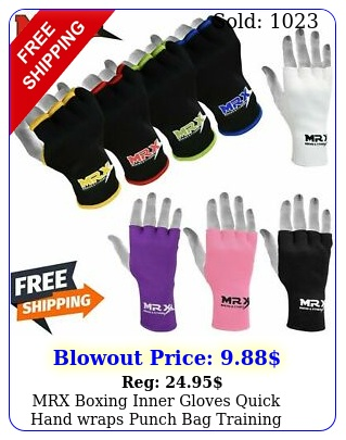 mrx boxing inner gloves quick hand wraps punch bag training mma martial art
