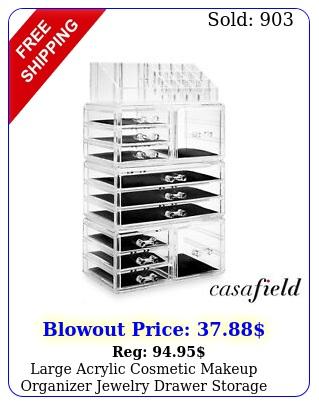large acrylic cosmetic makeup organizer jewelry drawer storage display cas