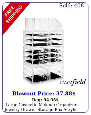 large cosmetic makeup organizer jewelry drawer storage acrylic display cas