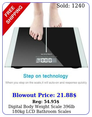 digital body weight scale lb kg lcd bathroom scales tempered glass batter