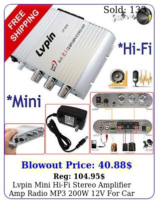 lvpin mini hifi stereo amplifier amp radio mp w v car motorcycle hom