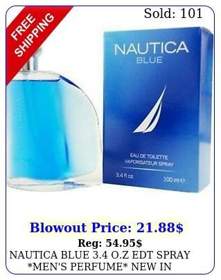 nautica blue oz edt spray men's perfume in seale