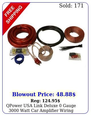 qpower usa link deluxe gauge watt car amplifier wiring installation ki