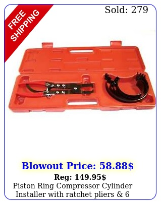 piston ring compressor cylinder installer with ratchet pliers  bands tool se