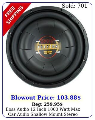 boss audio inch watt max car audio shallow mount stereo subwoofe