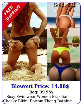 sexy swimwear women brazilian cheeky bikini bottom thong bathing beach swimsui