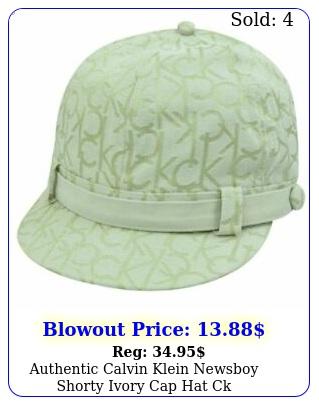 authentic calvin klein newsboy shorty ivory cap hat c