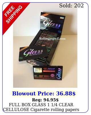 full glass  clear cellulose cigarette rolling papers  pack coun