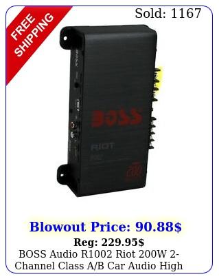 boss audio r riot w channel class ab car audio high power amplifie