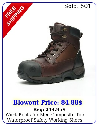 work boots men composite toe waterproof safety working shoes genuine leathe