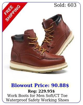 work boots men softct toe waterproof safety working shoes genuine leathe