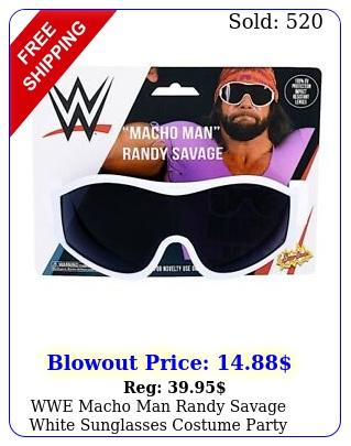 wwe macho man randy savage white sunglasses costume party shades sunstache