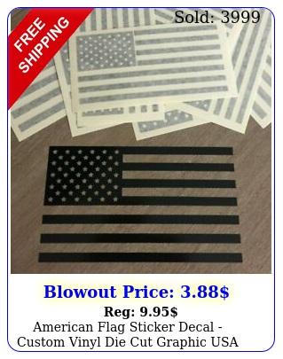 american flag sticker decal custom vinyl die cut graphic usa fits jeep windo