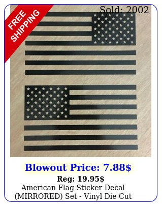 american flag sticker decal mirrored set vinyl die cut graphic fits jee