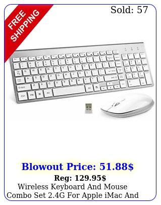 wireless keyboard mouse combo set g apple imac pc full size sli
