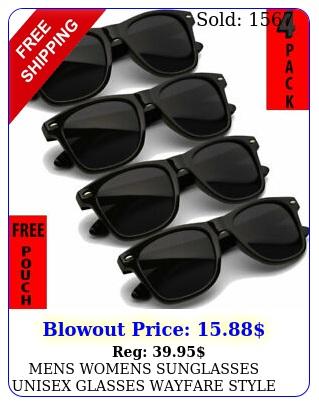 mens womens sunglasses unisex glasses wayfare style retro all black sunglass