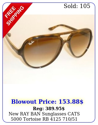 ray ban sunglasses cats  tortoise rb  gradient brown lense