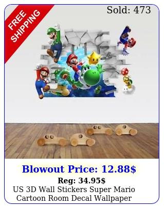 us d wall stickers super mario cartoon room decal wallpaper removabl