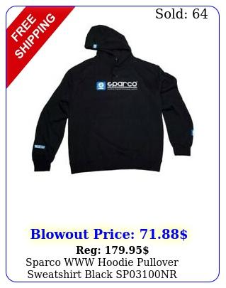 sparco www hoodie pullover sweatshirt black spnr genuin