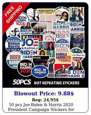 pcs joe biden harris president campaign stickers democratic part