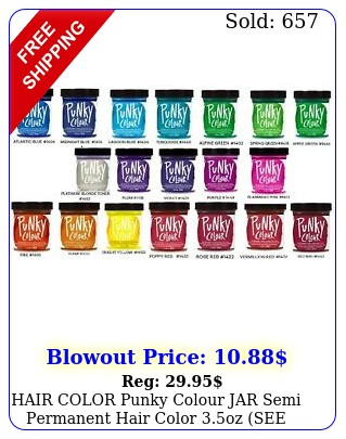 hair color punky colour jar semi permanent hair color oz  see all color