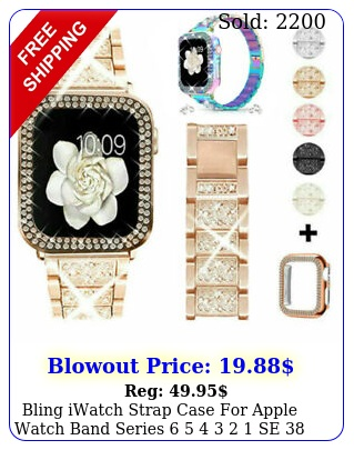 bling iwatch strap case apple watch band series    se  m