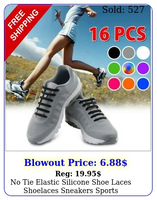 no tie elastic silicone shoe laces shoelaces sneakers sports childadultunise
