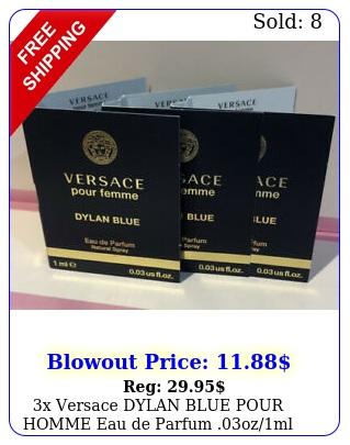 x versace dylan blue pour homme eau de parfum ozml carded sampl