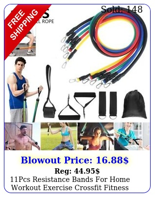 pcs resistance bands home workout exercise crossfit fitness training gym