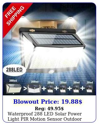 waterproof led solar power light pir motion sensor outdoor lamp wall garde
