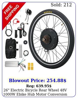 electric bicycle rear wheel v w ebike hub motor conversion ki