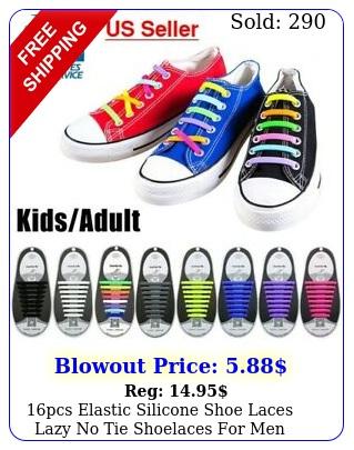 pcs elastic silicone shoe laces lazy no tie shoelaces men women child us