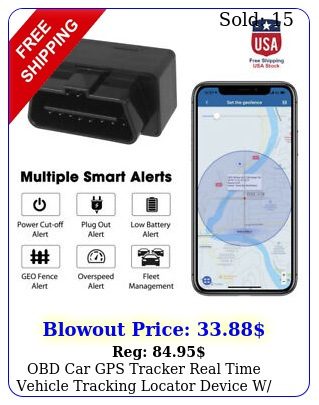 obd car gps tracker real time vehicle tracking locator device w vibration alar