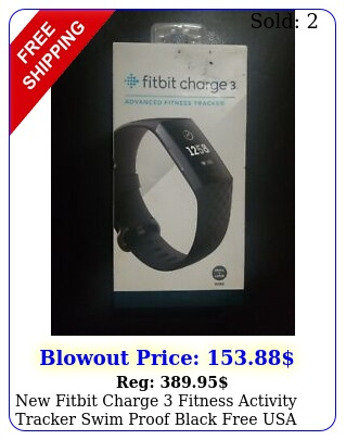fitbit charge fitness activity tracker swim proof black free usa shippin