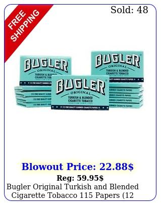 bugler original turkish blended cigarette tobacco papers pack