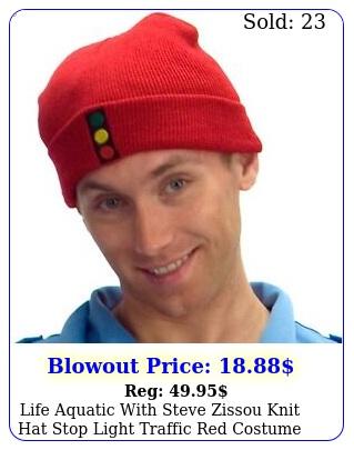 life aquatic with steve zissou knit hat stop light traffic red costume beani