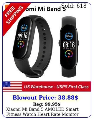 xiaomi mi band amoled smart fitness watch heart rate monitor atm waterproo