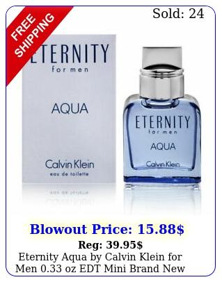 eternity aqua by calvin klein men oz edt mini bran