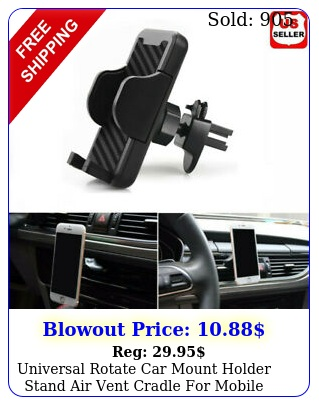 universal rotate car mount holder stand air vent cradle mobile cell phone u