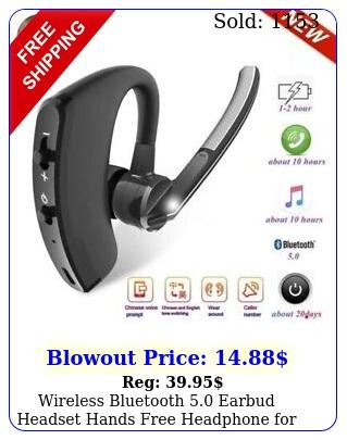 wireless bluetooth earbud headset hands free headphone iphone samsung l